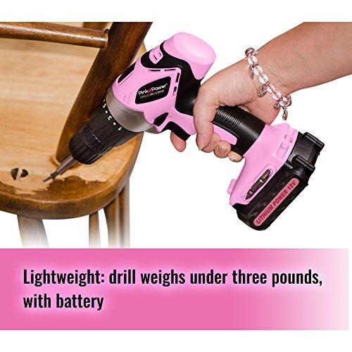Pink Power Electric Kit PP1848K Volt Cordless and Bit Set