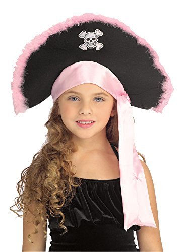 Rubie's Costume Co Pirate Hat with Pink Marabou Costume - Pink Pirate Costumes