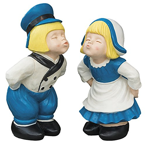- Breck's Kissing Dutch Couple Statues - Set of 2