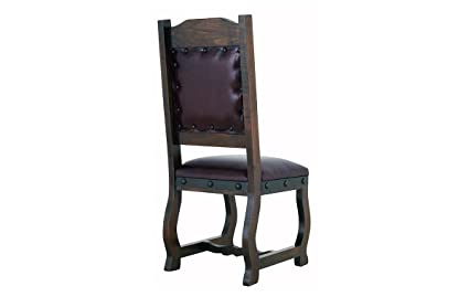 Fine Amazon Com Rustic Gran Hacienda Leather Dining Chair Solid Gmtry Best Dining Table And Chair Ideas Images Gmtryco