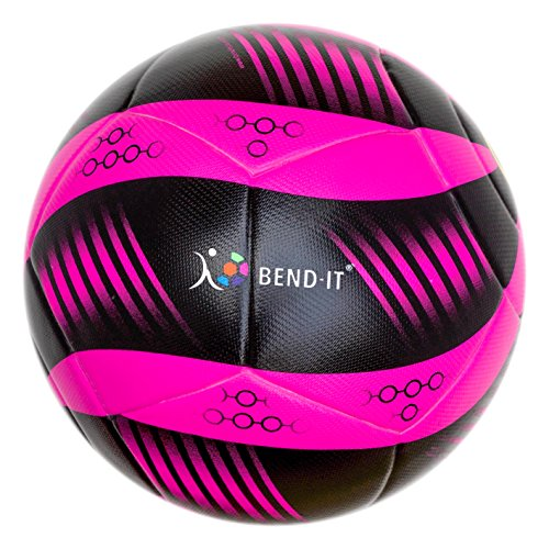 Bend-It Soccer, Curl-It Pro Atomic, Soccer Ball Size 5, Official Match Ball (5, Pink/Black)