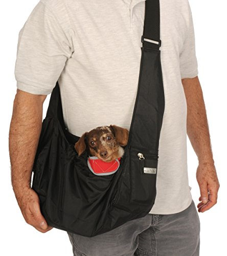 My Canine Kids Easy Walk Sport Pet Sling, Puppy, Small Dog Sling Carrier Bag. Fits Dogs 8-12 LBS Unisex Sturdy Hip Sling Teacup XS XXS Extra Small, Best Carrier. Adjustable, Nylon, Washable