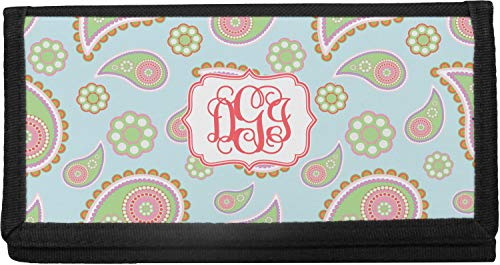Blue Paisley Canvas Checkbook Cover (Personalized)