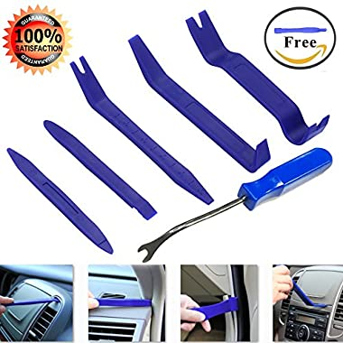 Geli Auto Trim Removal Tool Kit, Set of 7 Pcs Auto Door Clip Panel Trim Removal Tool Kits for Car Dash Radio Audio Installer Pry Tool