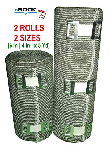 (SETH - 2 Sizes - High Compression Elastic Bandage | Compression Bandage wrap Rolls for Knee, Foot, Legs, Ankle, Thigh, Calf,Joint Effusion,Sprains,Strains & Venous Disorders - 6
