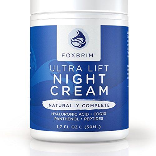 Crème de nuit ultra Lift - 100 % Advanced Anti-Aging formule - restauration de peau jeune avec des ingrédients naturels & organique Premium - CoQ10, panthénol, Peptides, acide hyaluronique - Foxbrim 1. 7 OZ