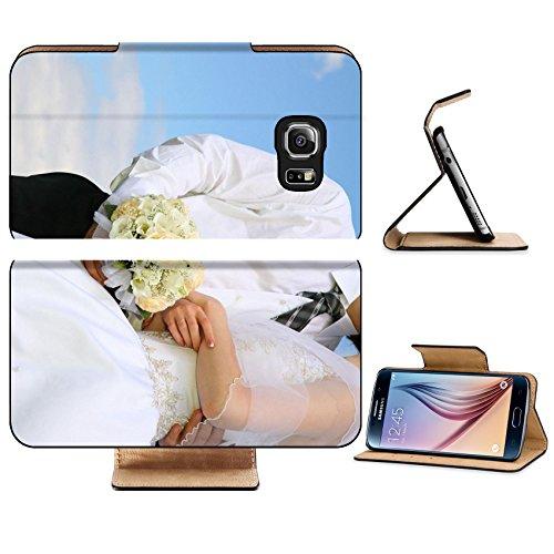 Luxlady Premium Samsung Galaxy S6 Edge Flip Pu Leather Wallet Case IMAGE ID 2275036 wedding body couple