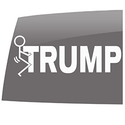 Window swag fk trump solid white decal political anti trump vinyl