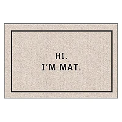 Hi I'm Mat Indoor/Outdoor Doormat