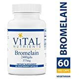 Vital Nutrients - Bromelain 2400 GDU (375 mg) - Enhances Digestion and Maintains Healthy Tissue - 60 Capsules per Bottle