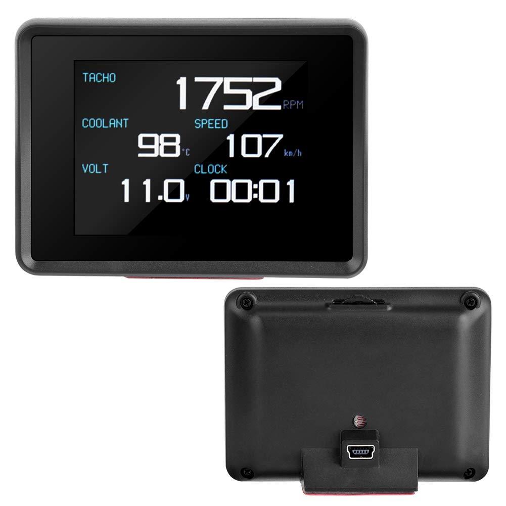 Quadrante multifunzione display digitale HUD per misuratore di temperatura e voltmetro digitale auto OBD