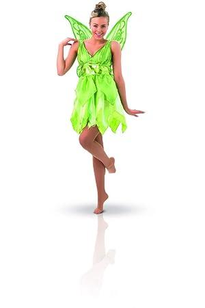 Peter Pan - Disfraz de Hada Campanilla para mujer, Talla M adulto (Rubies 880998-M)