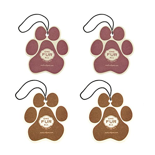 One Fur All Pet House Car Air Freshener, Pack of 4 - Winter Mix - Non-Toxic Auto Air Freshener, Pet Odor Eliminating Air Freshener for Car, Ideal for Small Spaces, Dye Free Dog Car Air Freshener