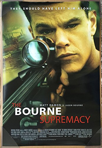 BOURNE SUPREMACY MOVIE POSTER 2 Sided ORIGINAL 27x40 MATT DA