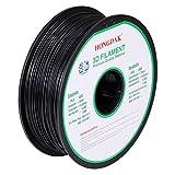 HONGDAK, 3D Printer Filament, PLA Filament 1.75mm Dimensional Accuracy +/- 0.03 mm, 1kg Spool(2.2LBS), PLA-1000g-1.75mm-BLACK
