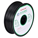 3D Printer - HONGDAK, 3D PLA Printing, 3D Printer Filament, Dimensional Accuracy +/- 0.03 mm, 1KG Spool(2.2LBS), 1.75 mm, Black, PLA-1000g-1.75mm-BLACK