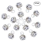 Accmor 15 Packs Party Light Up Rings Engagement Diamond Rings, Perfect for Bachelorette Kids Adults(Cold White Lights)