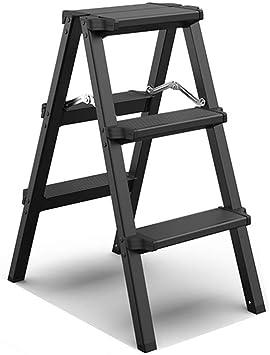 Multifunción Fotografía Bilateral Escalera Aluminio Multifuncional Aleación Escalera Interior Renovación Escala de Escala / Negro, Blanco Estable, color negro 39*59*74.5cm: Amazon.es: Oficina y papelería
