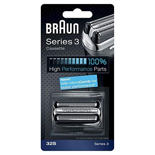 Braun 32S Shaver Replacement Foil Cassette - Silver (Braun Series 3 Replacement Foil And Cutter)