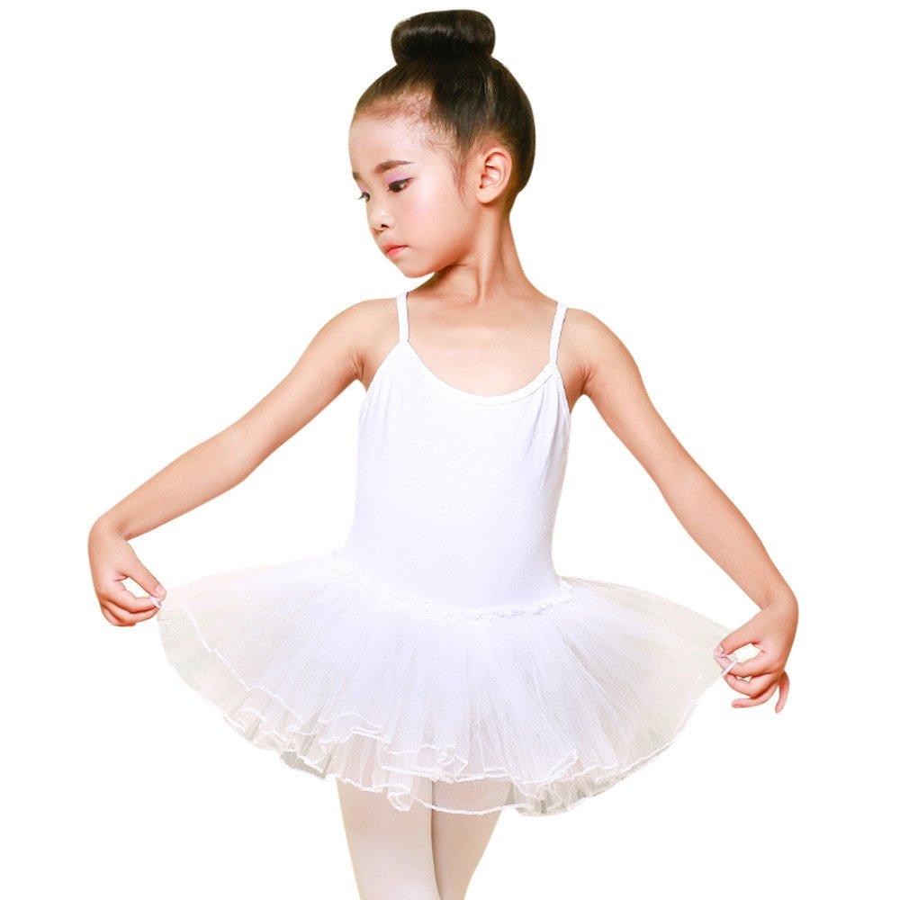 Topgrowt Bambina Leotard Vestito Tutu Balletto Strap Vestiti Body Ginnastica Abbigliamento Abito Senza Maniche Ragazza 2-6 Anni