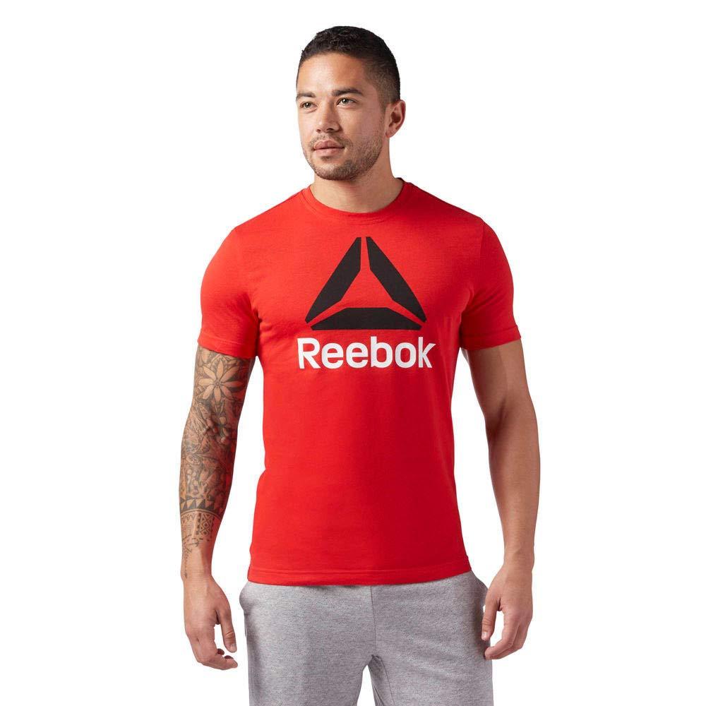 Reebok Cw5370 Qqr-Stacked T-Shirt Uomo