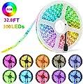EVISWIY LED Strip Lights with Remote Color Change for Bedroom 32.8 ft & 50 ft