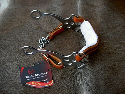 Horse Leather Hackamore English Western Bridle Bit Bitless Tack 35153