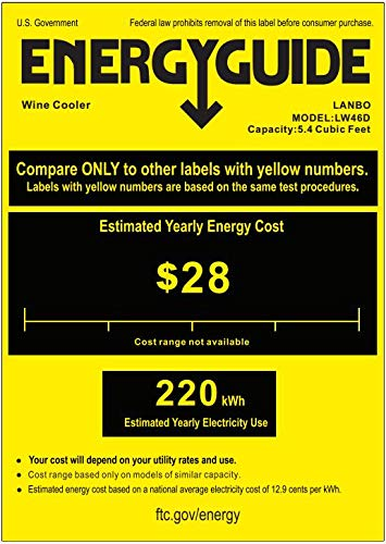 LANBO Dual Zone Wine Refrigerator, 44 Bottle Built-in Under Counter Compressor Wine Cooler, 24 Inch Wide by Lanbo (Image #1)