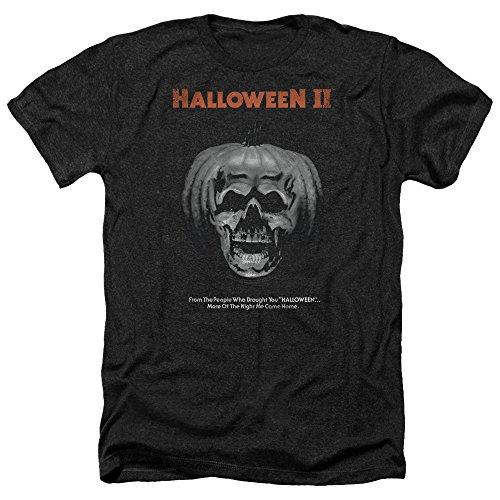 Halloween Horror Slasher Movie Jack O'Lantern Poster Adult Heather T-Shirt Tee Black]()