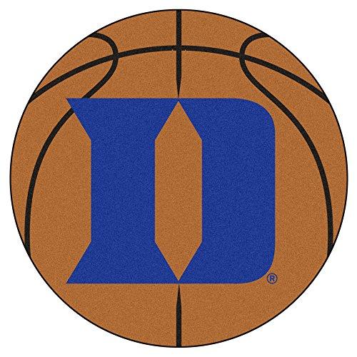 NCAA Duke University Blue Devils Basketball Shaped Mat Area Rug ()