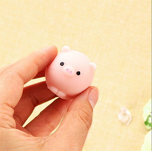 IYSHOUGONG 1 Pcs Mini Cute Pig Ball Squishies Toy Squeeze Fun Kid Toy Gift Healing Stress Reliever Charms - Sad Pig