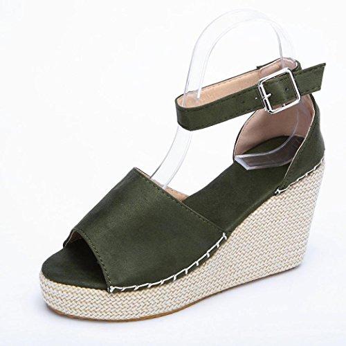 Costura Cerrojo de Zapatos Sandalias Plataforma de Polaca Peep Zapatos Polaca de Verano Chancletas Verde Playa Plana de y Logobeing Toe Sandalias 6zqZwTw