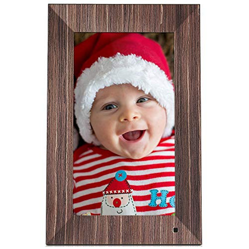 NIX Lux Digital Photo Frame 13.3 inch X13B, Wood. Electronic Photo Frame USB SD/SDHC. Digital Picture Frame with Motion Sensor. Control Remote and 8GB USB Stick Included