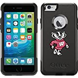 University Of Wisconsin Mascot design on Black OtterBox Commuter Series Case for iPhone 6 Plus and iPhone 6s Plus
