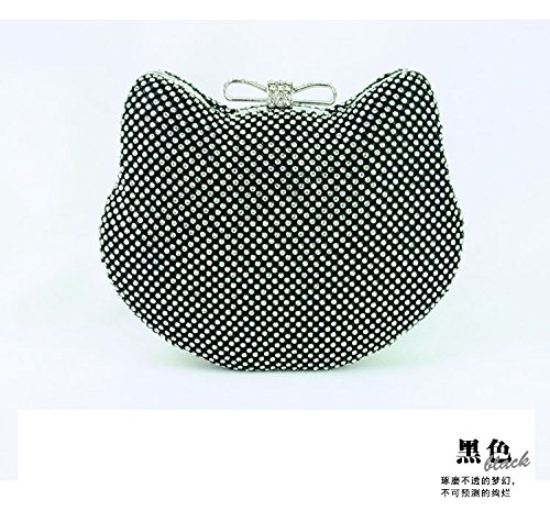 bag diamond bag bag handbag dinner dinner bag Black hand bag little lady woman bride bag FYios Evening tw1qTC