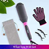 Hair Straightener Brush, Straightening & Curling 3