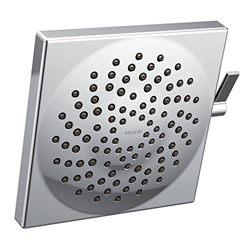"Moen S6345EP Velocity Eco-Performance Two-Function 8-1/2"" Diameter Spray Rainshower Showerhead, Chrome"