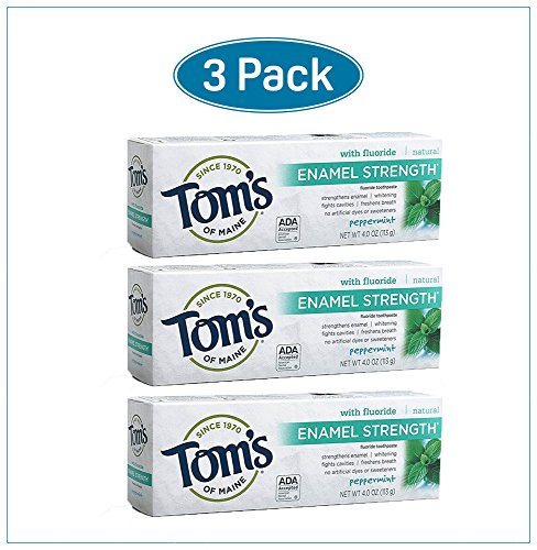 Enameled Glass Vase (Toms of Maine Enamel Strength Natural Toothpaste Peppermint 4 Ounce Pack of 3)