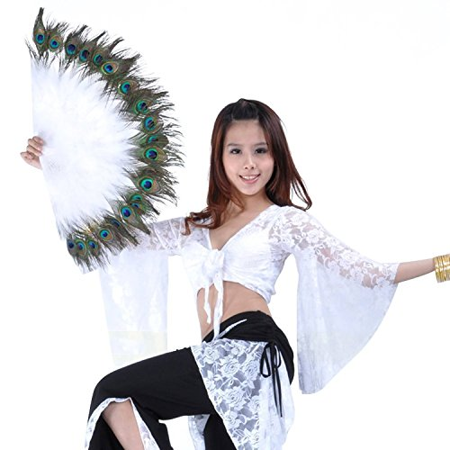 AvaCostume Plastic Peacock Feather Folding