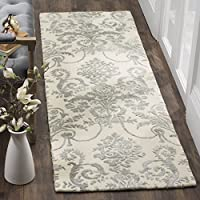 Safavieh Bella Collection BEL917A Ivory and Grey Premium Wool & Viscose Runner (23 x 7)
