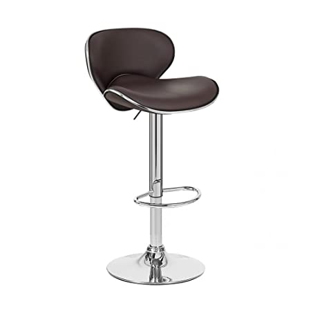Kappa Contemporary Adjustable Barstool – Coffee