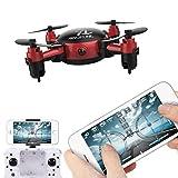 Leewa@ YL S18 Foldable 2.4 4CH 6-Axis Gyro Mini Wifi FPV RC Drone Quadcopter (Red)