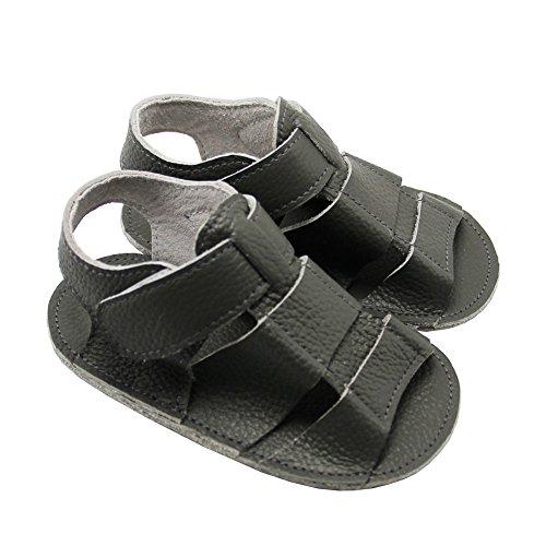Mejale Baby Schuhe Neugeborenen Sandalen Schuhe rutschfest Kleinkind ersten Wanderer Sommer Schuhe Grau