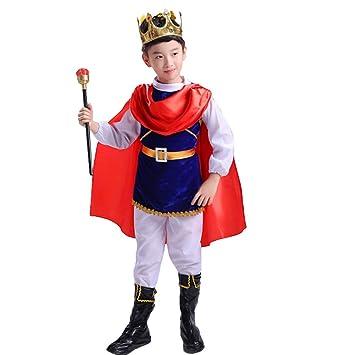 LOLANTA 7 Piezas Niños Niños Príncipe Disfraz Niños Halloween ...