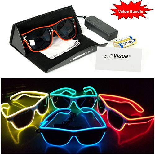 (#1 LED Party Glasses Bundle for Party , Club , Rave , Concert , Birthday , Costume , Halloween , and Christmas use, by VIGOR the Ultimate in Light Up)