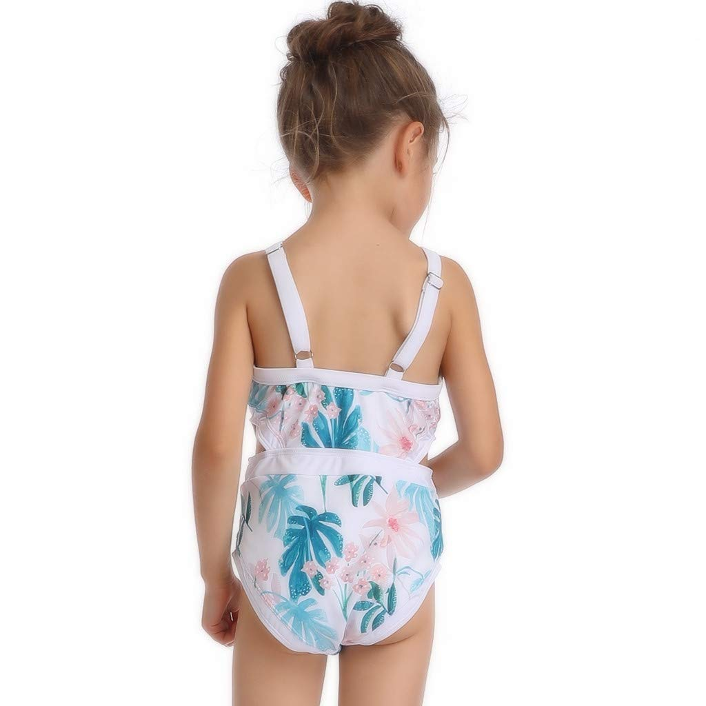 Mother and Daughter Hollow Printed Bikinis Bathing Suit CHIDY Womens One Piece Swimsuit,Girls One Piece Swimwear
