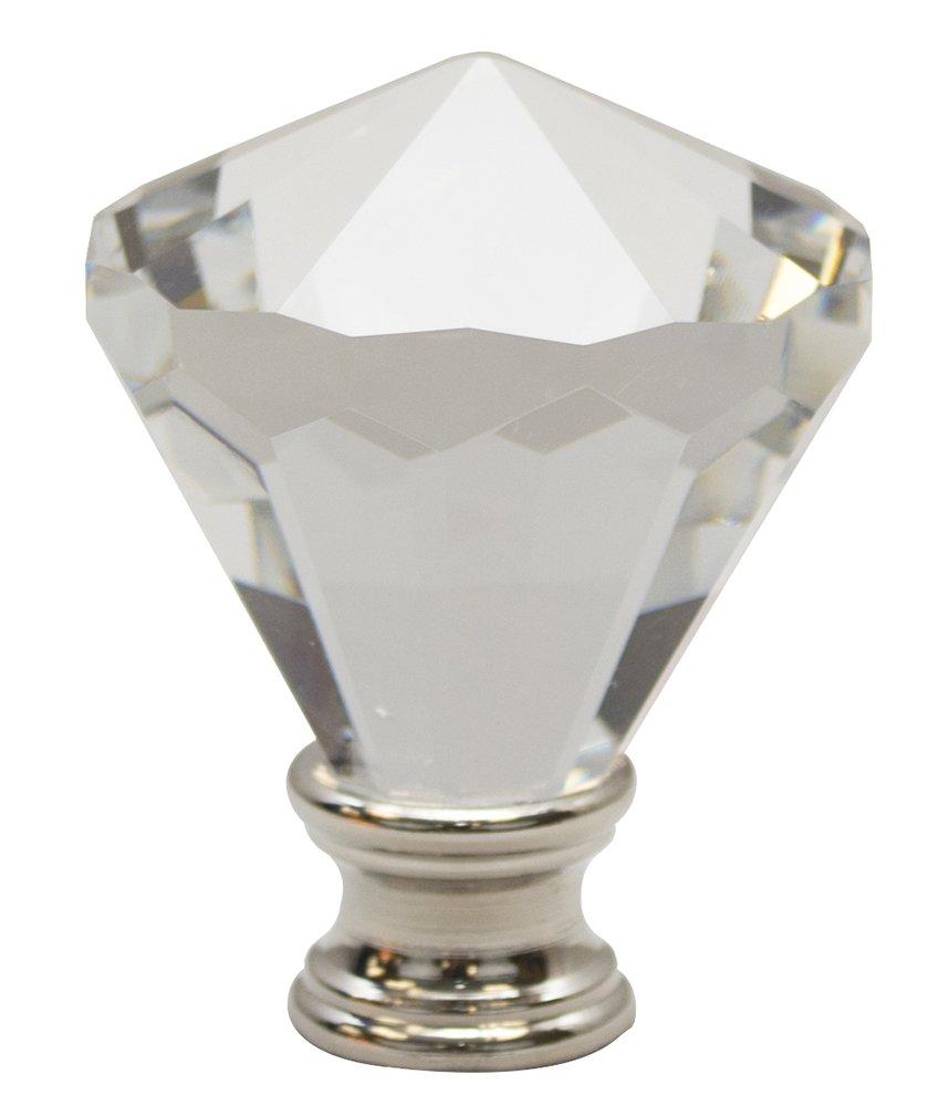 Urbanest Crystal Belle Lamp Finial, Satin Nickel, 2 3/16-inch Tall