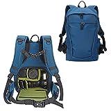 YuHan Multi-function Waterproof Anti-shock SLR/ DSLR Camera Backpack with 15-Inch Laptop Rucksack Inner Padding, Large, Blue