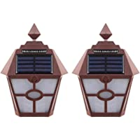 Generic 2pcs Luzes Solares Lâmpadas de Arandela Solares Decorativas Ao Ar Livre