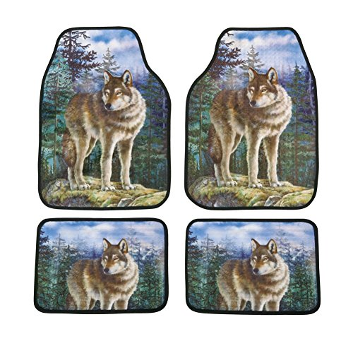 Nature Wolf Car Mats - Set of 4 (Nature Car Floor Mats compare prices)